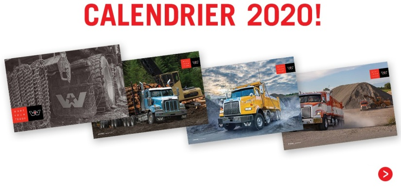 Calendrier 2020 Western Star