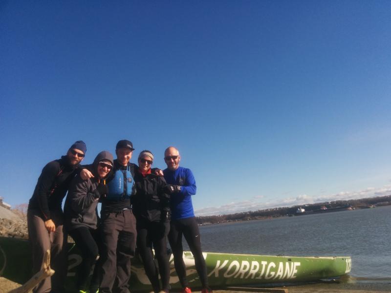 l'équipe de canotage sur glace : Korrigane-GloboCam